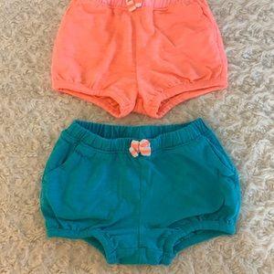 Bundle of 2 bubble style shorts